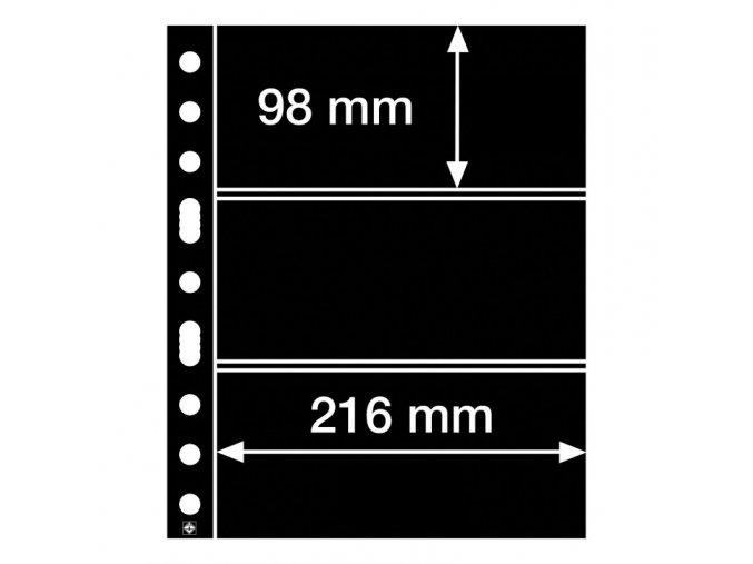 cerne albove listy grande 3s 3 kapsy na bankovky znamky certifikaty do 216x98 mm leuchtturm 305160 lighthouse