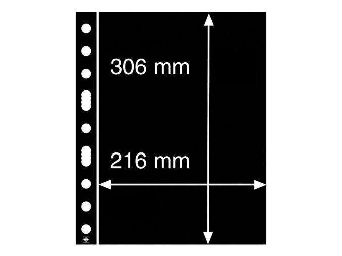 cerne albove listy grande 1s 1 kapsa na certifikaty znamky velke arsiky casopisy 216x306 mm leuchtturm 333555 lighthouse