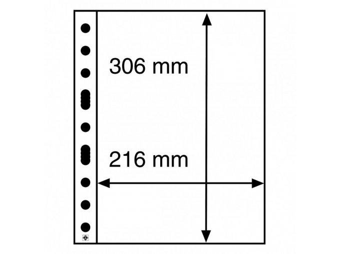 pruhledne albove listy grande 1c 1 kapsa na certifikaty znamky arsiky do 216x306 mm leuchtturm 321709 lighthouse