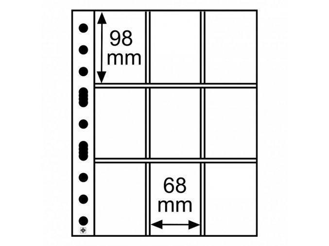 pruhledne albove listy grande 3 3c 9 kapes na sberatelske karticky karty do 68x98 leuchtturm 323456 lighthouse