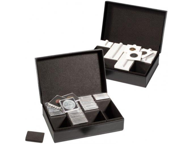presidio quadrum 100 box na ctvercove mincovni kapsle quadrum krabicka na kartonove mincovni ramecky papirove 50x50 leuchtturm 340969 lighthbox