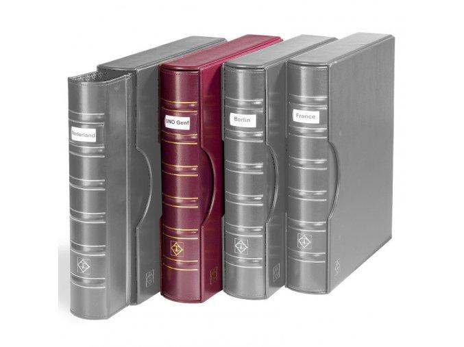 grande classic signum cervene album s okenkem na popisek s kazetou na bankovky mince pohledy dokumenty a4 leuchtturm 338604 lighthouse