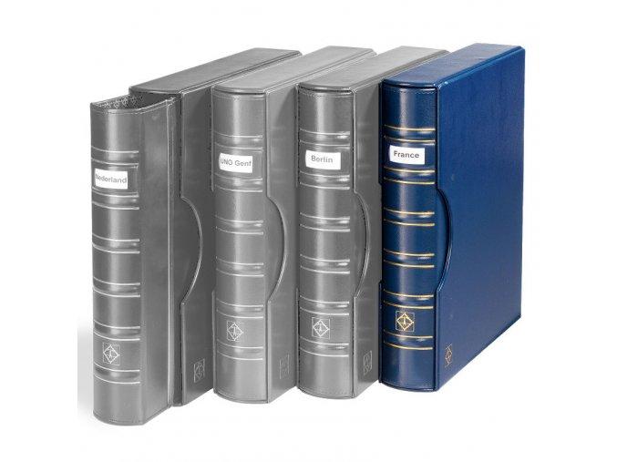 grande classic signum modre album s okenkem na popisek s kazetou na bankovky mince pohledy dokumenty a4 leuchtturm 302901 lighthouse