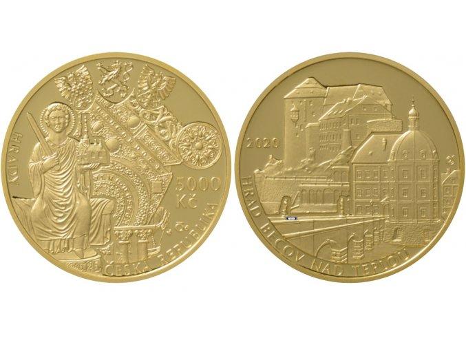 zm hrad becov nad teplou zlata pametni mince becov cnb