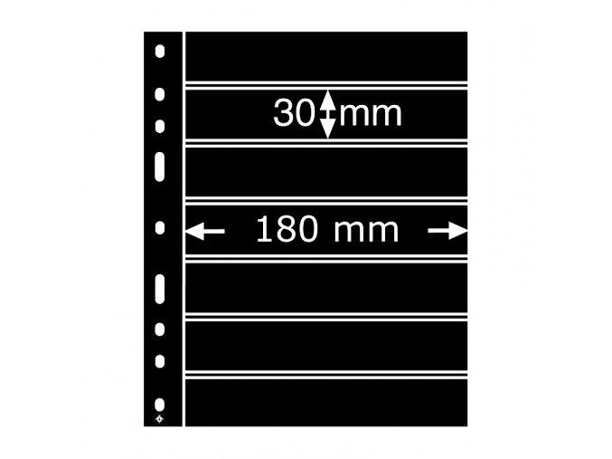 cerne albove listy optima 7s 7 vodorovnych kapes na znamky do 180x30mm obaly optima folie leuchtturm 323995 lighthouse