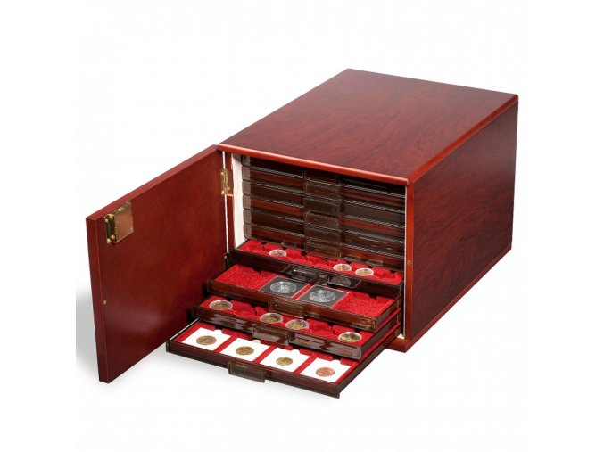 volterra mincovni box kabinett drevena skrinka na mince na standardnich 10 mincovnich plat nebo 6 plat xl leuchtturm 301415 lighthouse