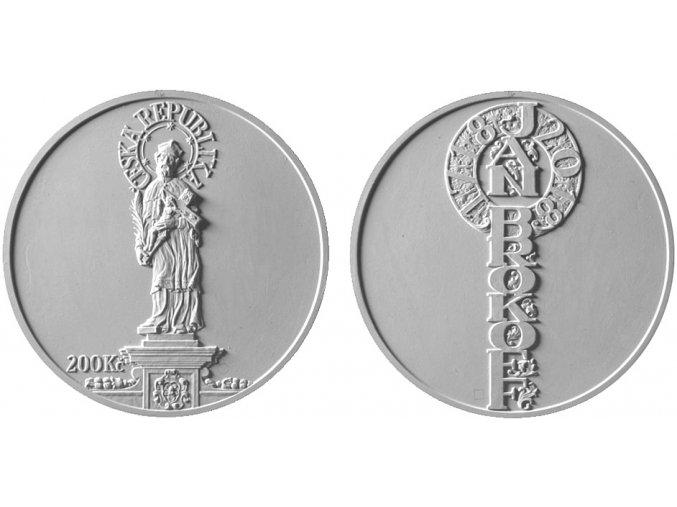 2018 200 kc stribrna pametni mince jan brokoff 300 vyroci umrti asamat baltaev umelecky navrh