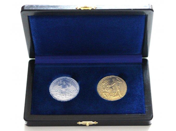 2017 sada medaili stribro zlato 1000 vyroci smrti svateho vaclava otakar spaniel replika au ag