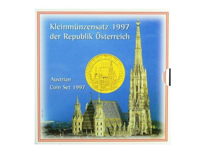 1997 rakousko sada obeznych minci kleinmunzensatz der republik ostereich 1997 austrian coin set