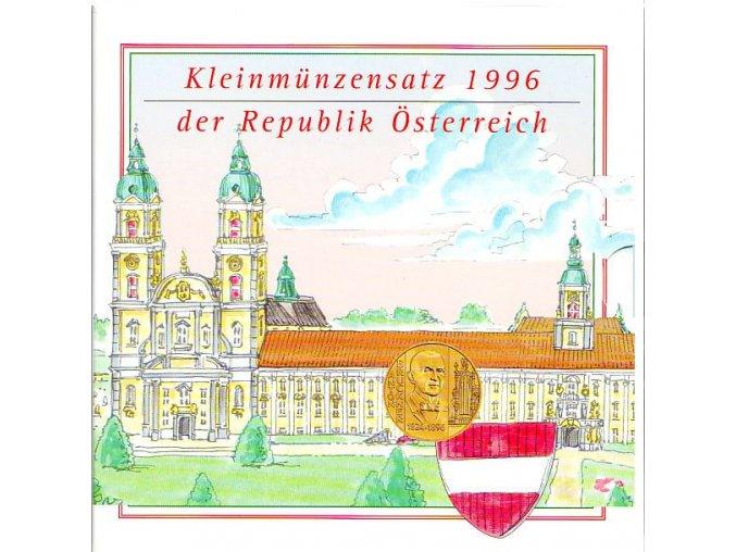 1996 rakousko sada obeznych minci kleinmunzensatz der republik ostereich 1996 austrian coin set