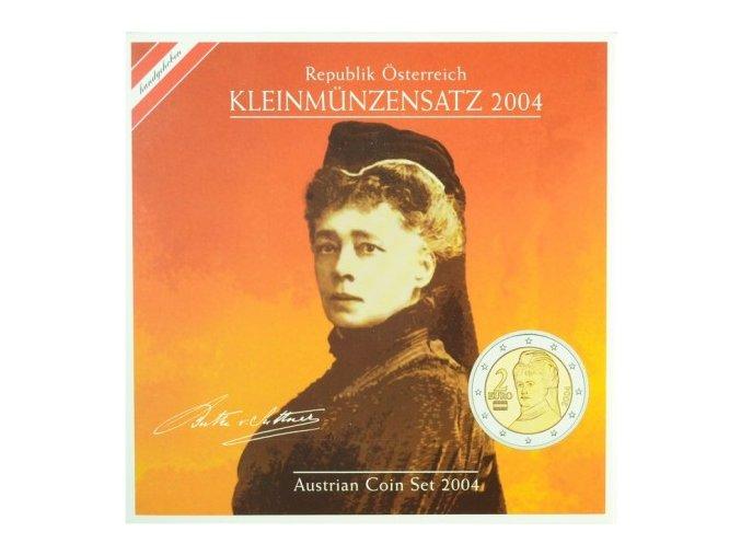 2004 rakousko sada obeznych minci kleinmunzensatz der republik osterreich 2004 austrian coin set unc