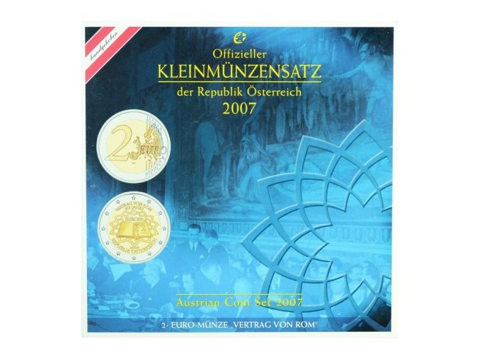 2007 rakousko sada obeznych minci kleinmunzensatz der republik osterreich 2007 austrian coin set prooflike