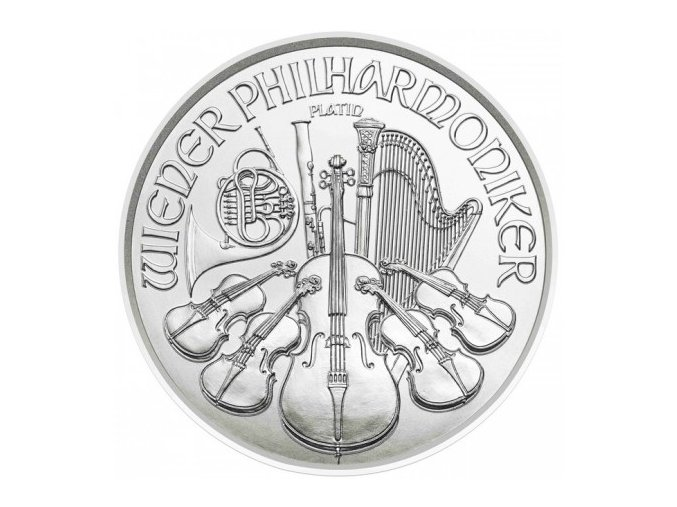 4 eur platinova investicni mince wiener philharmoniker 2017 rakousko austrian mint standard