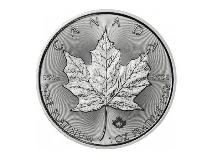 platinova investicni mince maple leaf platina 2017 50 kanadsky dolar 1 oz kanada royal canadian mint standard