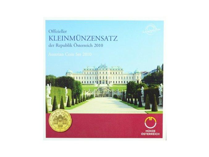 2010 rakousko sada obeznych minci kleinmunzensatz der republik osterreich 2008 austrian coin set unc