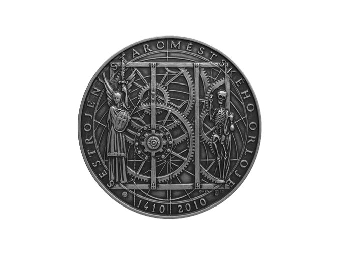 stribrna medaile 600 vyroci sestrojeni Staromestskeho orloje 1410 2010 Ag BK numismatikasova.cz