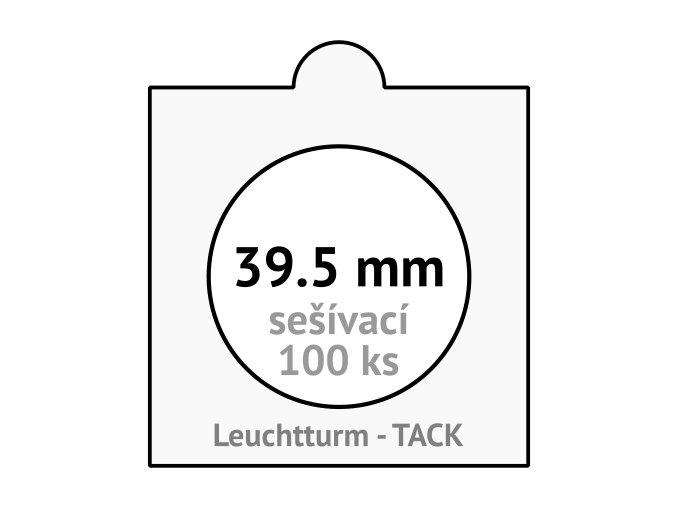 tack bile sesivaci mincovni ramecky na mince prumer 39 5 mm baleni 100 ks 5x5 cm leuchtturm 304831 lighthouse