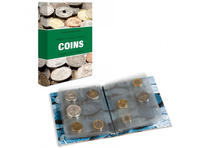 kapesni album coins 48 mince male album do kapsy leuchtturm 344961 lighthouse