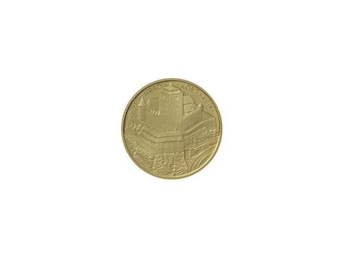 2016 5000 Kč Zlatá pamětní mince Hrad Kost Hrady České republiky (2016 2020) 15.55 g 0.9999 Au PROOF rub