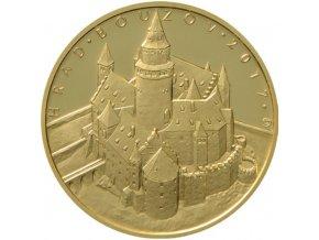 rub zlate pametni mince hrad bouzov 2017 5000 kc cyklus hrady ceske republiky