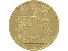 rub zlate pametni mince hrad zvikov 2018 5000 kc cyklus hrady ceske republiky