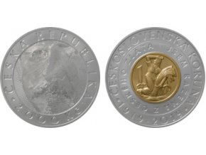 2019 2000 kc bimetalova pametni mince 100 vyroci zavedeni ceskoslovenske meny bimetal cnb