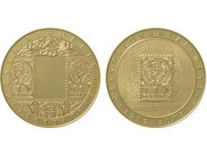 2019 10000 kc zlata pametni mince zavedeni ceskoslovenske meny 100 vyroci mimoradne razby au proof