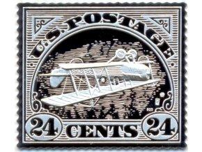 silver ag inverted jenny znamka obracena jenny prevracena stribrna plaketa mincovna kremica kb pavel karoly numismatikasova.cz