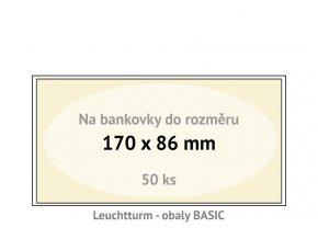 basic 170 kapsy na bankovky 170x86mm ochranne pouzdra obaly na papirove penize leuchtturm 341221