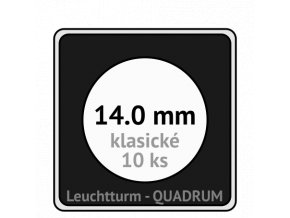 quadrum 14 mm na mince ctvercove bublinky mincovni pouzdra 50x50 mm 10ks leuchtturm 308571 lighthouse