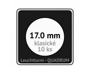 quadrum klasicke hranate kapsle 17 mm na mince ctvercove bublinky mincovni pouzdra 50x50 mm 10ks leuchtturm 337671 lighthouse