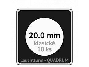 quadrum klasicke hranate kapsle 20 mm na mince ctvercove bublinky mincovni pouzdra 50x50 mm 10ks leuchtturm 323863 lighthouse