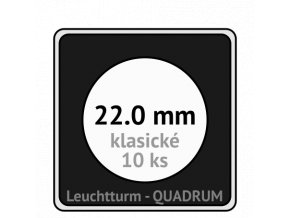 quadrum klasicke hranate kapsle 22 mm na mince ctvercove bublinky mincovni pouzdra 50x50 mm 10ks leuchtturm 320753 lighthouse