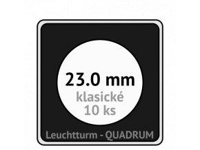 quadrum klasicke hranate kapsle 23 mm na mince ctvercove bublinky mincovni pouzdra 50x50 mm 10ks leuchtturm 323367 lighthouse