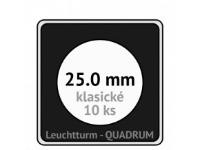 quadrum klasicke hranate kapsle 25 mm na mince ctvercove bublinky mincovni pouzdra 50x50 mm 10ks leuchtturm 331951 lighthouse