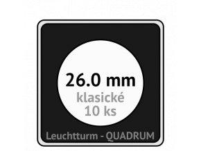 quadrum klasicke hranate kapsle 26 mm na mince ctvercove bublinky mincovni pouzdra 50x50 mm 10ks leuchtturm 329295 lighthouse