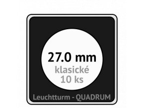 quadrum klasicke hranate kapsle 27 mm na mince ctvercove bublinky mincovni pouzdra 50x50 mm 10ks leuchtturm 317321 lighthouse