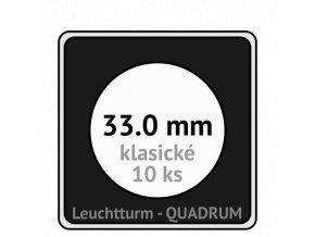 quadrum klasicke hranate kapsle 33 mm na mince ctvercove bublinky mincovni pouzdra 50x50 mm 10ks leuchtturm 327634 lighthouse
