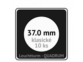 quadrum klasicke hranate kapsle 37 mm na mince ctvercove bublinky mincovni pouzdra 50x50 mm 10ks leuchtturm 330823 lighthouse