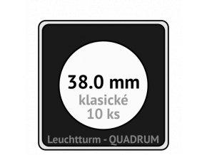 quadrum klasicke hranate kapsle 38 mm na mince ctvercove bublinky mincovni pouzdra 50x50 mm 10ks leuchtturm 330704 lighthouse