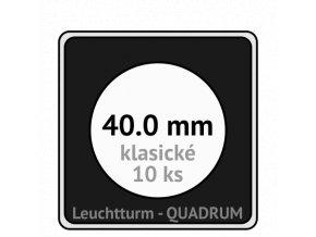 quadrum klasicke hranate kapsle 40 mm na mince ctvercove bublinky mincovni pouzdra 50x50 mm 10ks leuchtturm 307563 lighthouse