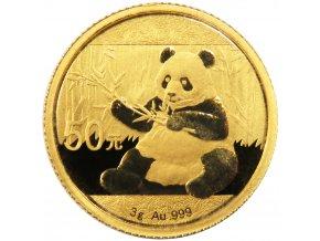 50 cny panda 2017 zlata investicni mince au gold 3g standard