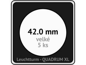 quadrum xl 42 mm pro velke mince medaile ctvercove mincovni kapsle s cernou vlozkou s vyrezem 5 ks leuchtturm 341486 lighthouse