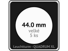 quadrum xl 44 mm pro velke mince medaile ctvercove mincovni kapsle s cernou vlozkou s vyrezem 5 ks leuchtturm 341163 lighthouse
