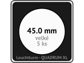 quadrum xl 45 mm pro velke mince medaile ctvercove mincovni kapsle s cernou vlozkou s vyrezem 5 ks leuchtturm 341164 lighthouse