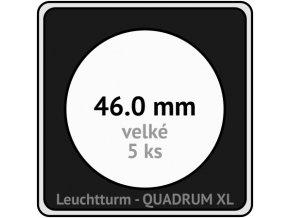 quadrum xl 46 mm pro velke mince medaile ctvercove mincovni kapsle s cernou vlozkou s vyrezem 5 ks leuchtturm 341165 lighthouse