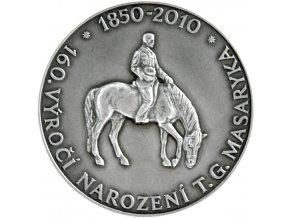 stribrna medaile 160 vyroci narozeni tomase garrigue masaryka kb mincovna kremnica stefan novotny ag