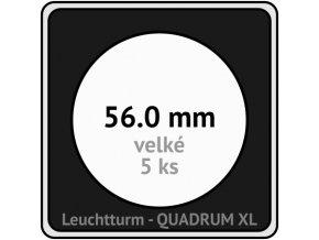 quadrum xl 56 mm pro velke mince medaile ctvercove mincovni kapsle s cernou vlozkou s vyrezem 5 ks leuchtturm 341175 lighthouse