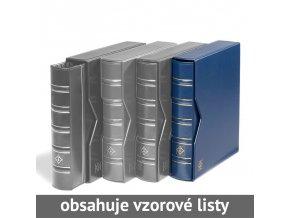 optima classic modre mincovni album s kazetou 10 vzorovych listu leuchtturm 321845 lighthouse