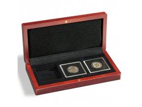 volterra 3 quadrum drevene etue na mince kazeta krabicka na 3 ctvercove kapsle quadrum 50x50 mm leuchtturm 339049 lighthouse
